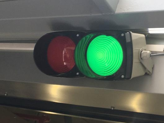 Sygnalizacja świetlna dla dokujących pojazdów