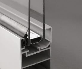 Profil aluminiowy przeszklony